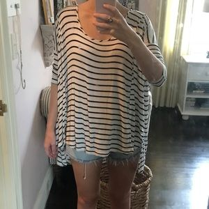 Silence + noise striped top